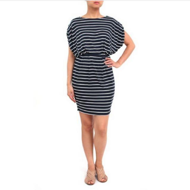 Elin Dress in Navy Stripes Nautical