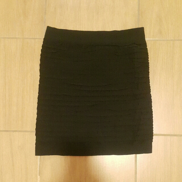 Fitted Stretch Short Skirt