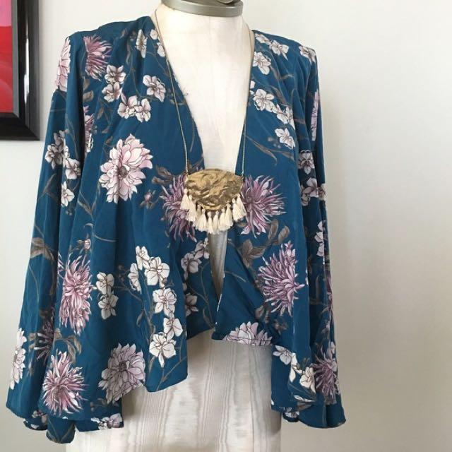 Floral kimono style jacket