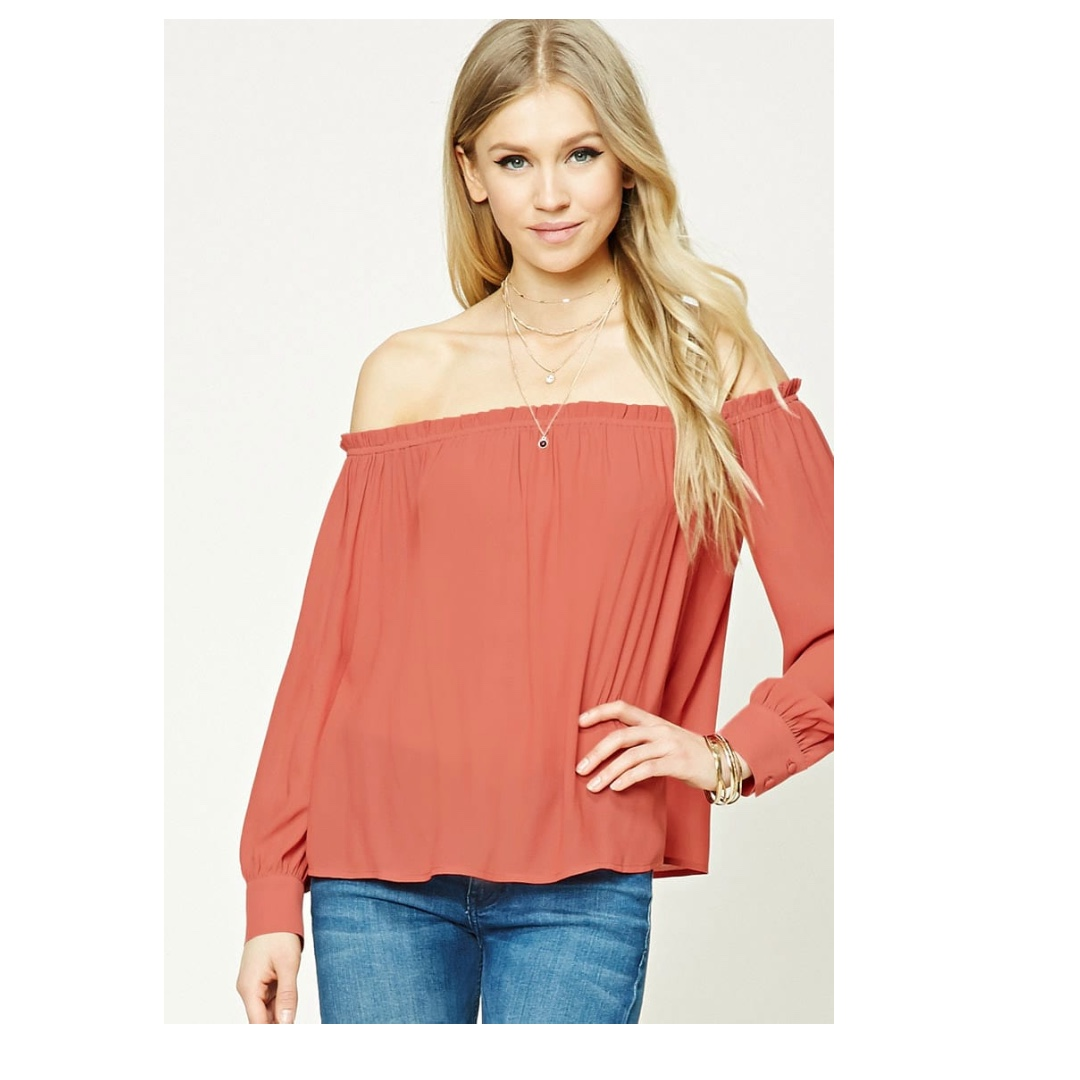 Forever 21 Ruffled Off-the-Shoulder Top