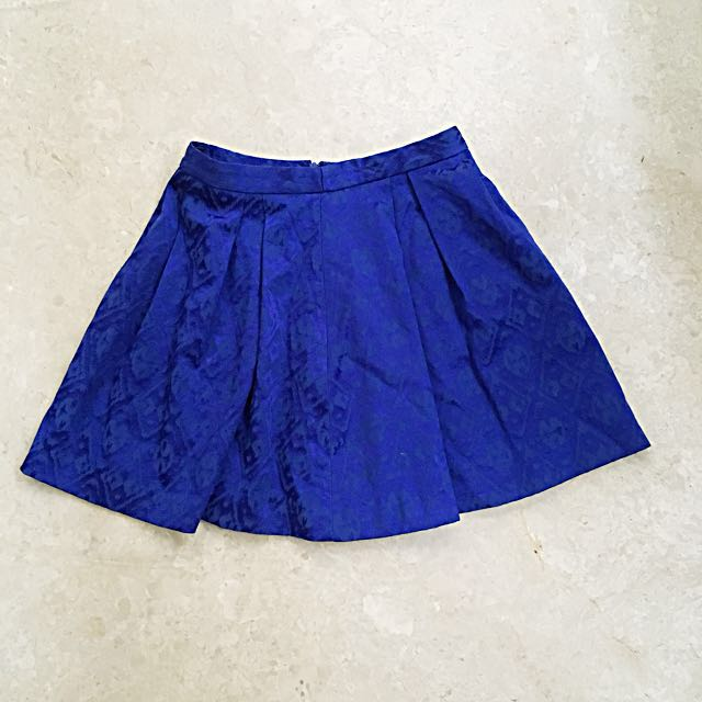 Forever new blue skirt rok motif