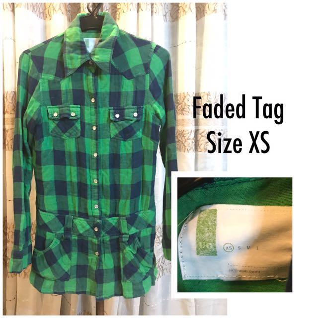 Green Checkered Longsleeves