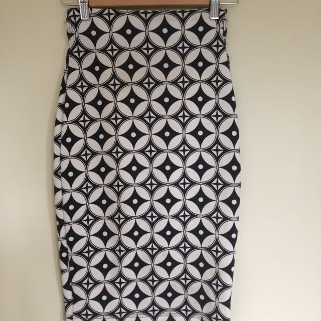 Herpony One Off Geometric Pencil Skirt
