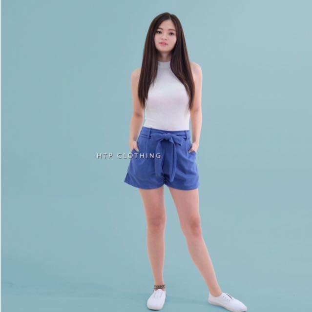 HTP Cobalt Blue Tie Shorts