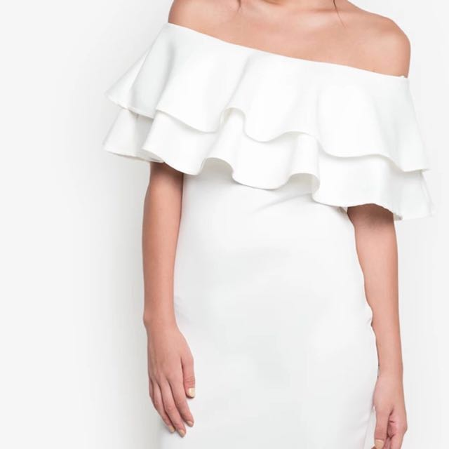 HUG Off Shoulder Ruffles Dress
