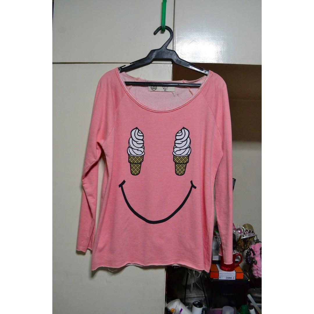 Ice Cream Smiley Sweater
