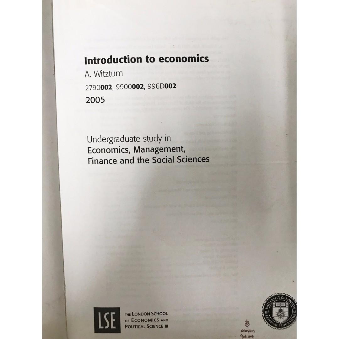 Study notes for Economics - Docsity