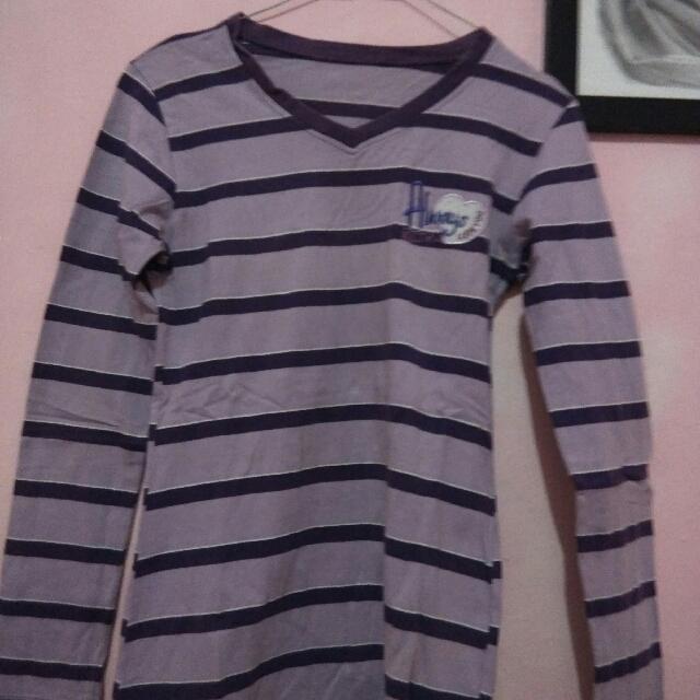 Kaos Panjang Stripe