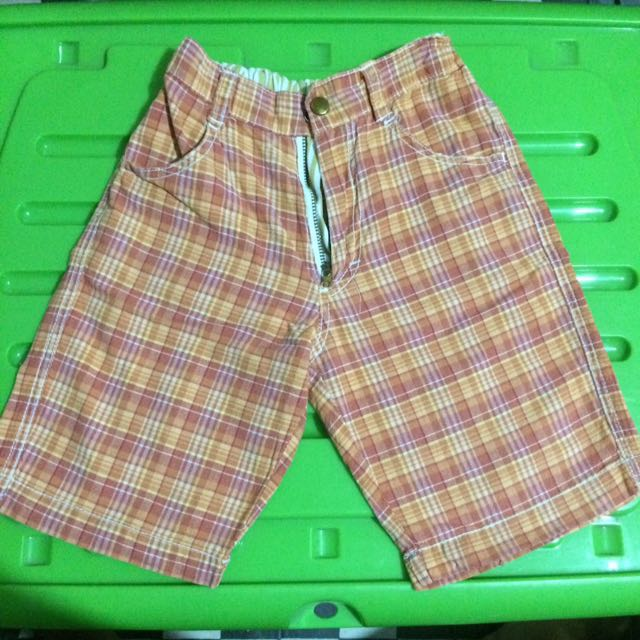 Kiddos Shorts (Red-Orange)