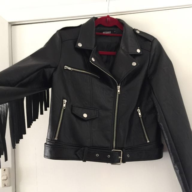 Leather Fringed Jacket