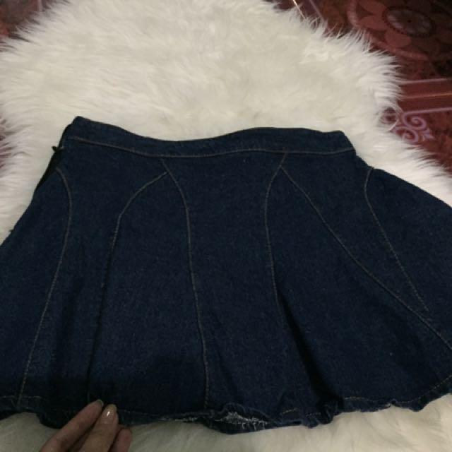 Maong Skater Skirt