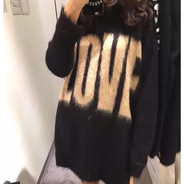 Mohair love knit dress