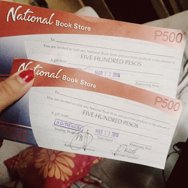 National Bookstore Gift Cert (1K worth)