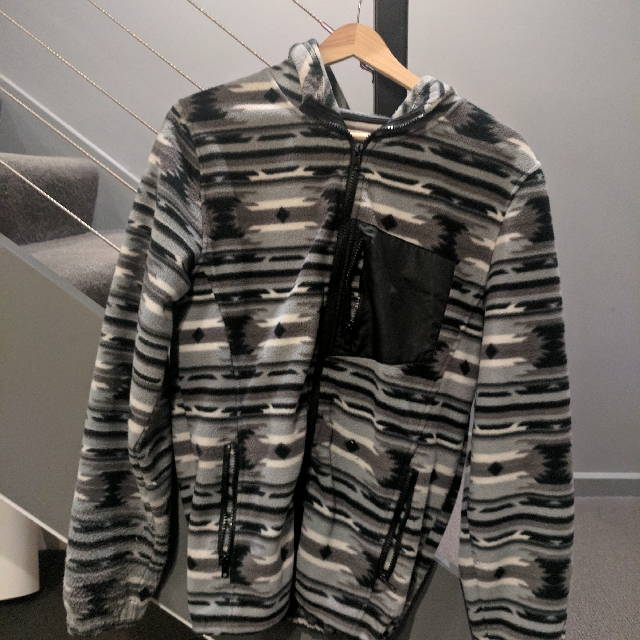 Navajo Print Hooded Fleece Jacket Size M $60