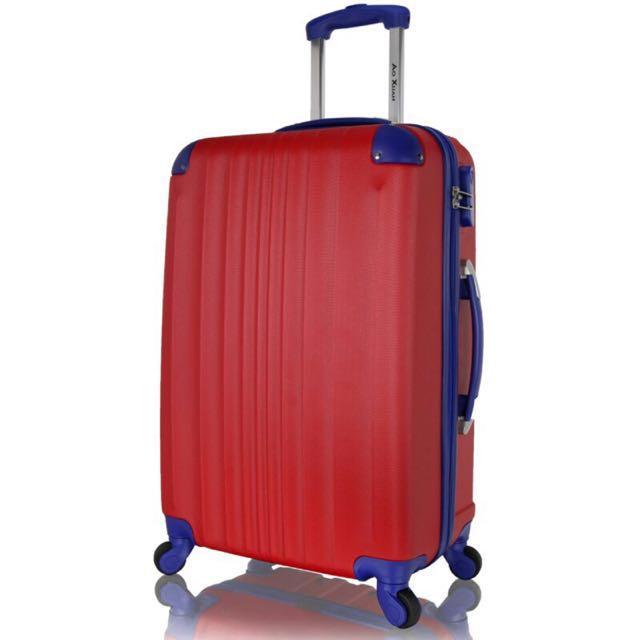 NBA配色 20吋嚴選ABS耐磨防刮硬殼行李箱 靜音萬向輪旅行箱 密碼鎖拉桿箱 玩色人生系列