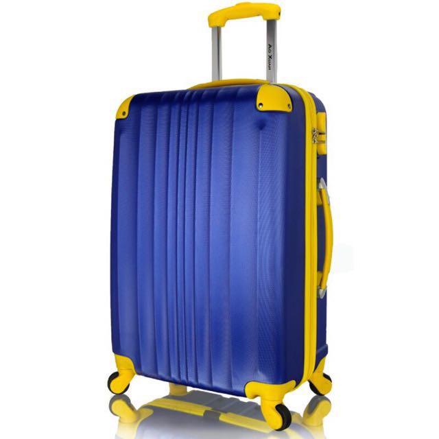 NBA配色 24吋嚴選ABS材質硬殼行李箱 靜音萬向輪旅行箱 玩色人生系列