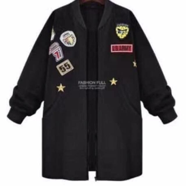 New Black Jacket With Patches