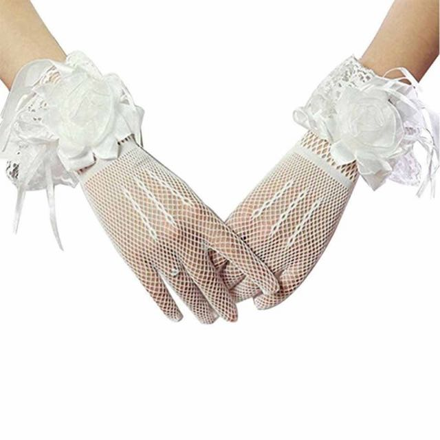 NEW Wedding white gloves