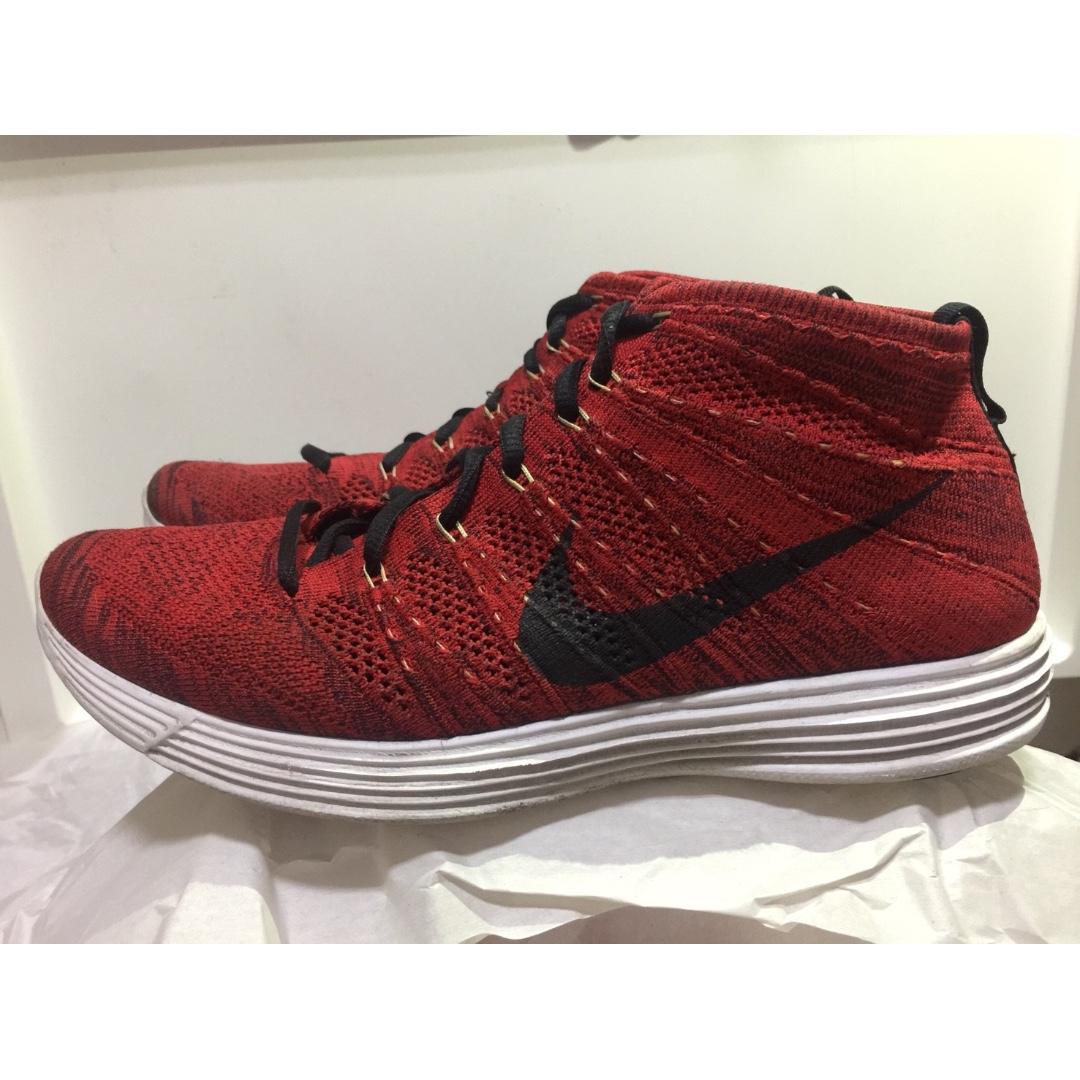 c77ecf551ff1 Nike Lunar Flyknit Chukka 2013 紅色配色編織鞋面高筒