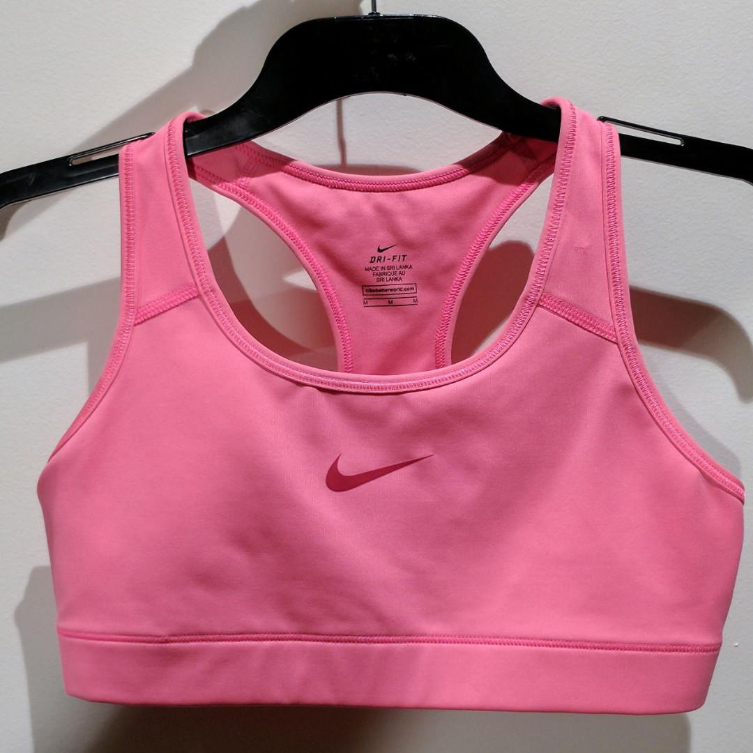 c3dbd68d331e6 NIKE Neon Pink Dri-Fit Activewear Racerback Crop Top size M EUC ...