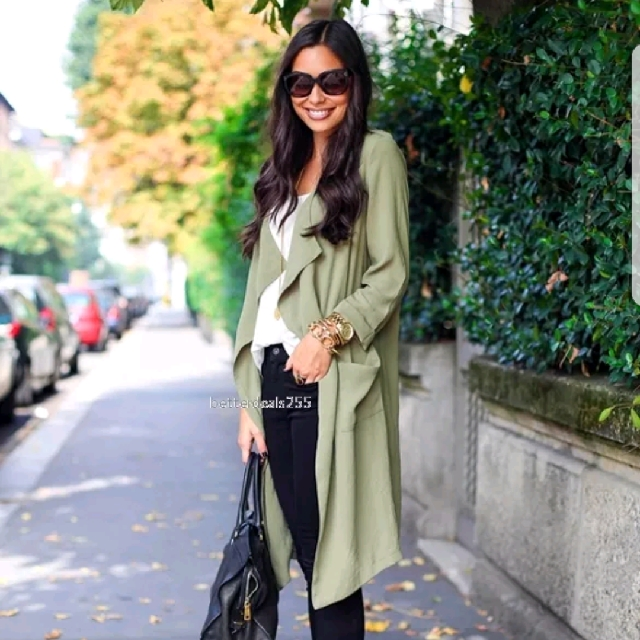 ⬇️Olive Waterfall Coat