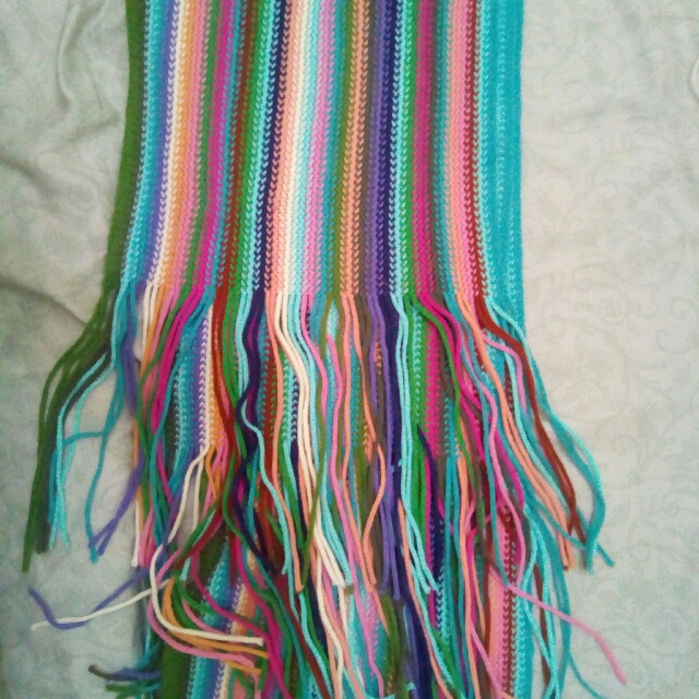 Pastel Knitted Scarf