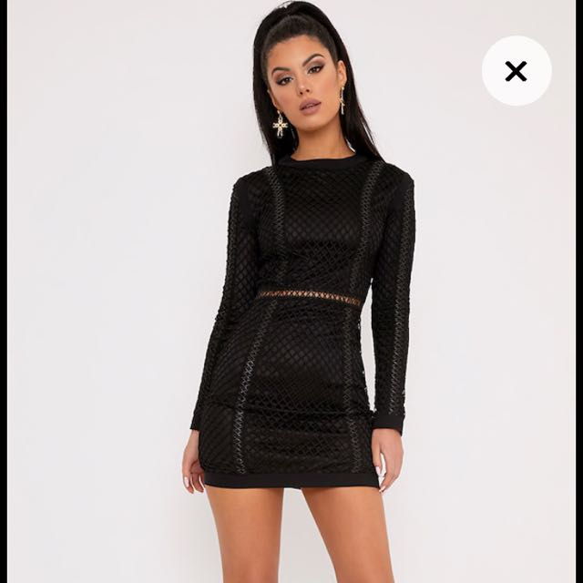 PLT Fishnet Dress