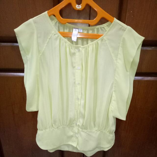 Preloved Soft Yellow Blouse