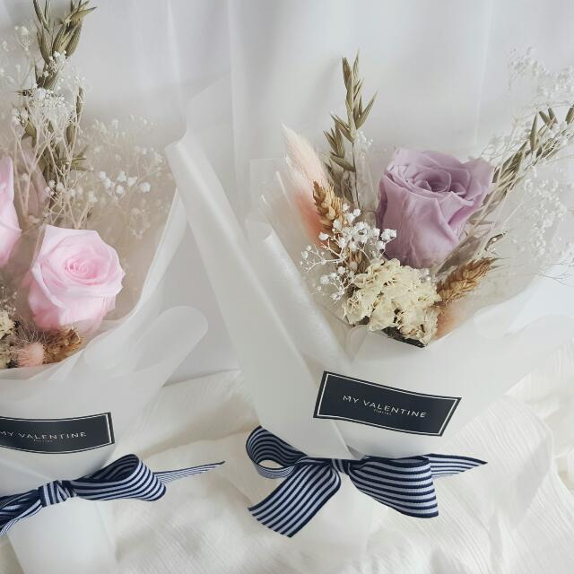 Preserved Flowers Hand Bouquet - Small. ( Out of stock), Gardening ...