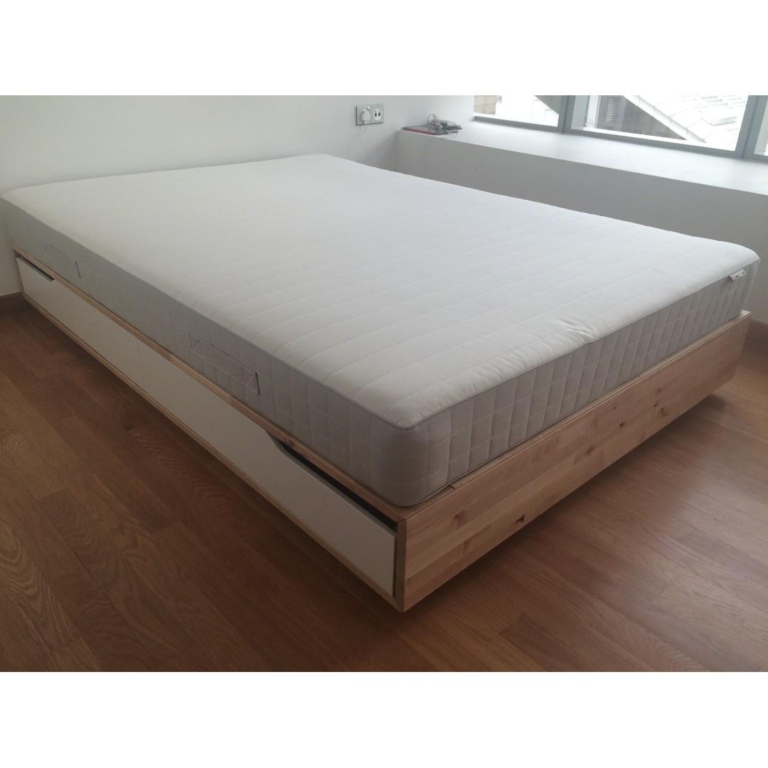 Betere Queen bed with mattress - IKEA Malm bedframe + Hasflo mattress CF-09