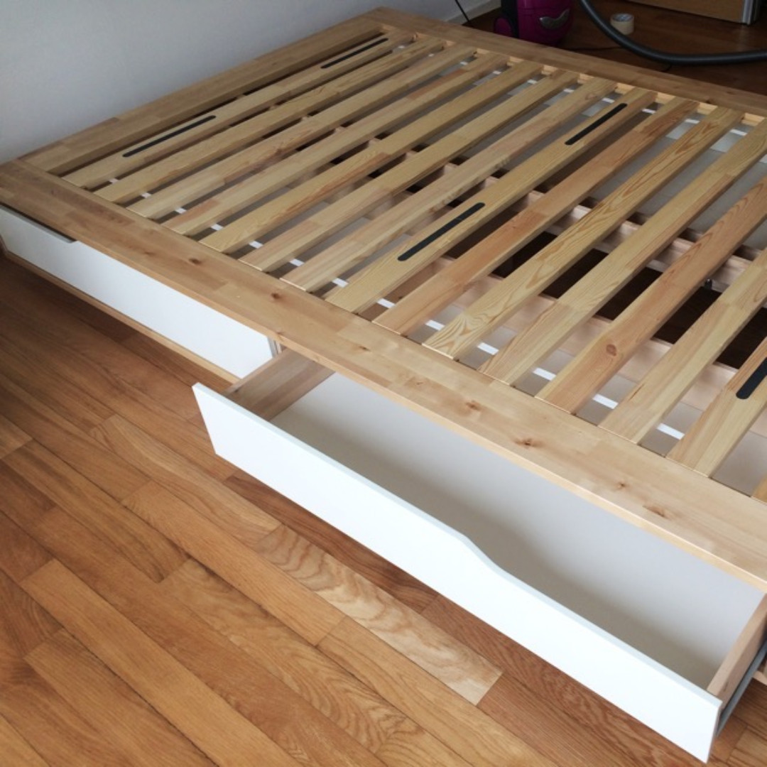 Queen Size Bed Ikea Mandal Bedframe Move Out Sale Furniture Beds Mattresses On Carousell