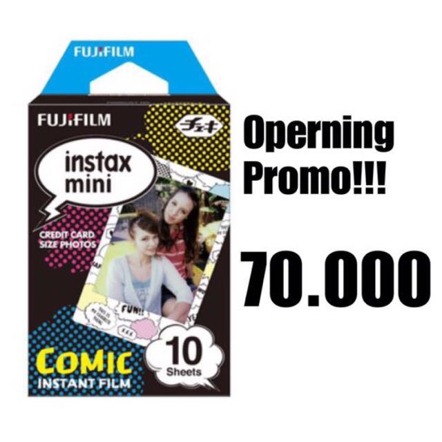 Refill instax mini plain comic edition