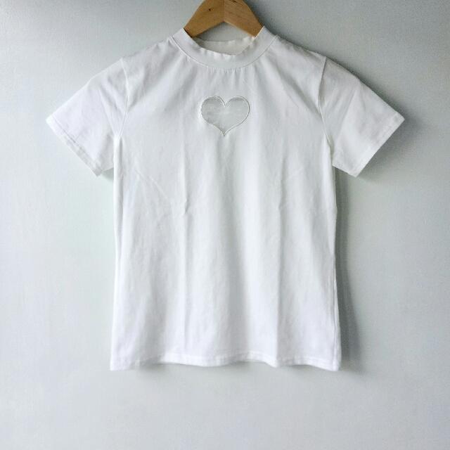 Round Neck Shirt w/ Mesh