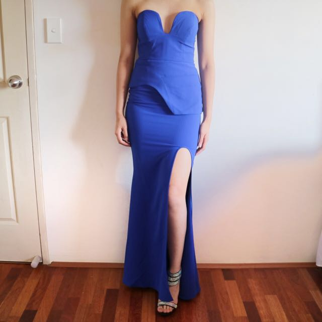 SHEIKE Maxi Cobalt Blue Formal Dress *NEW