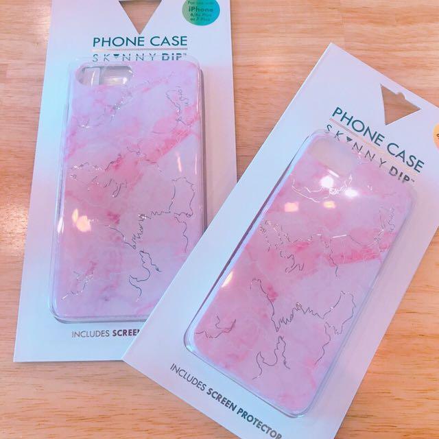 skinnydip 粉紅大理石紋iphone6/6S.7手機殼