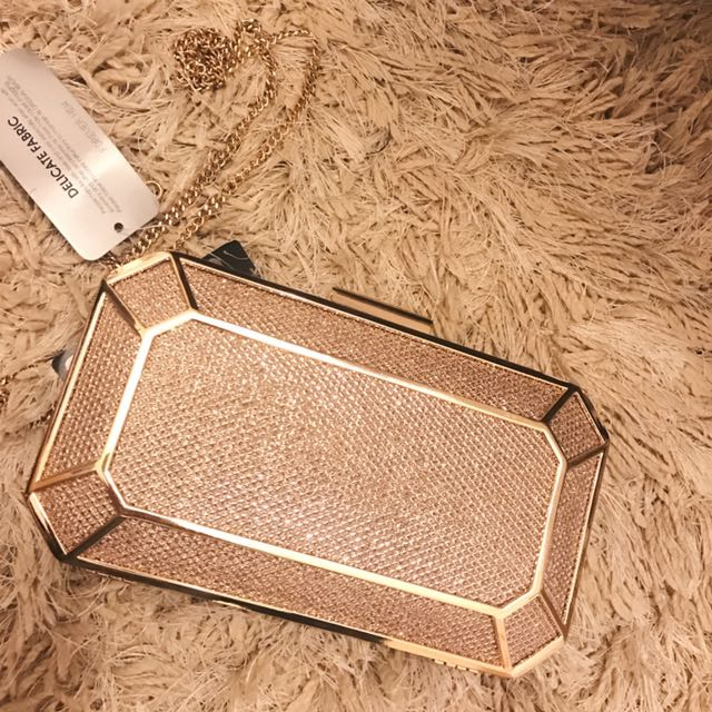 Soft gold clutch