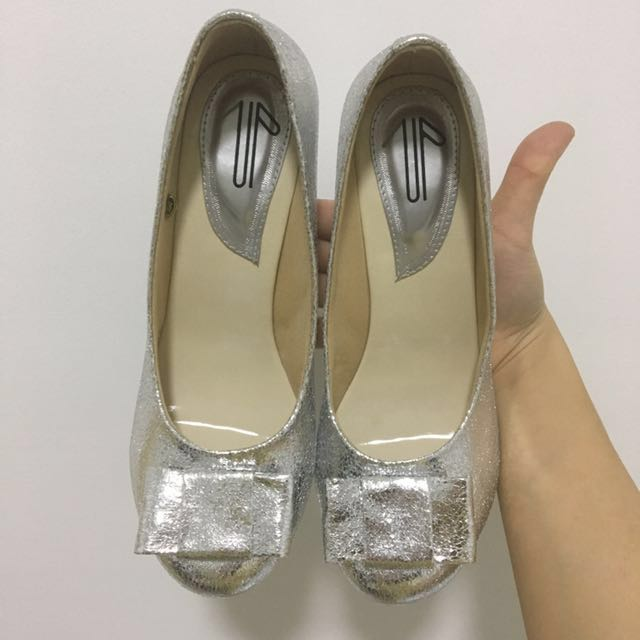 Sparkle Silver UP Shoes by Diana Rikasari