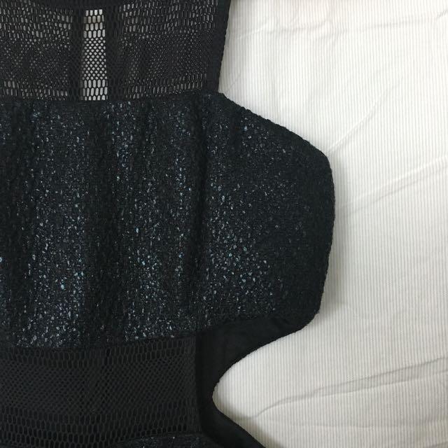 Symphony black Mesh cocktail dress