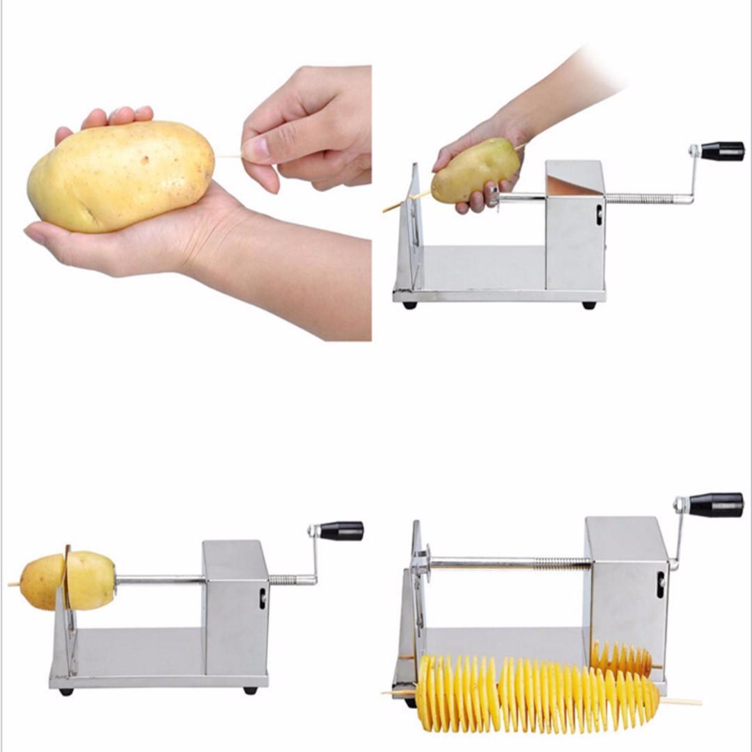 Tornado Potato Twister Machine Spiral Potato Cutter