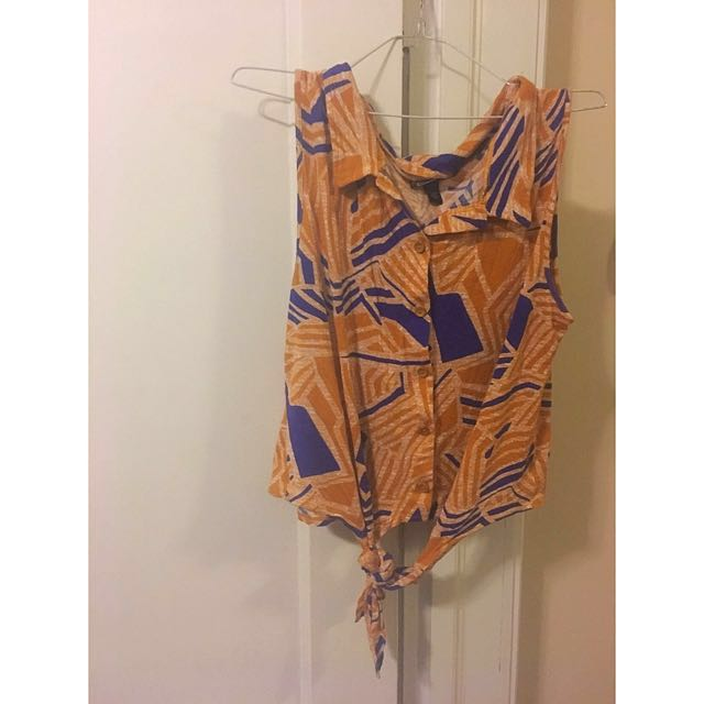 Tribal Sleeveless TieUp Top