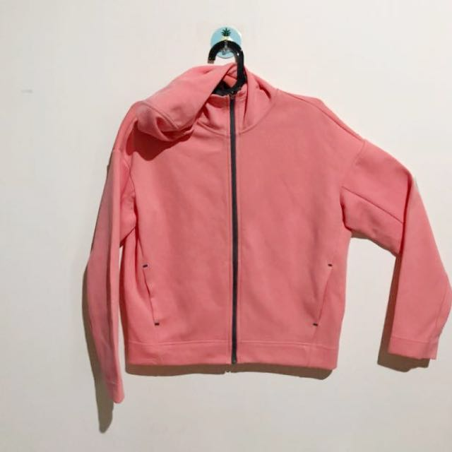 UNIQLO SWEAT HOODIE ZIP DRY STRETCH