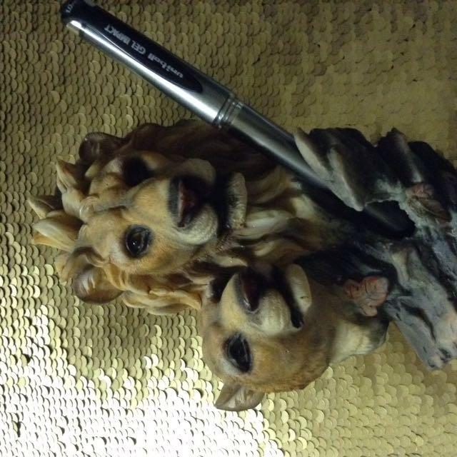 Vintage Lion Pen Holder