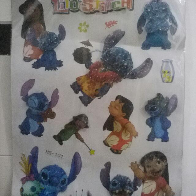 Wallpaper Sticker Dinding Tema Lilo Stitch