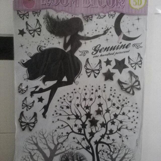 Wallpaper Sticker Dinding Tema Monochrome