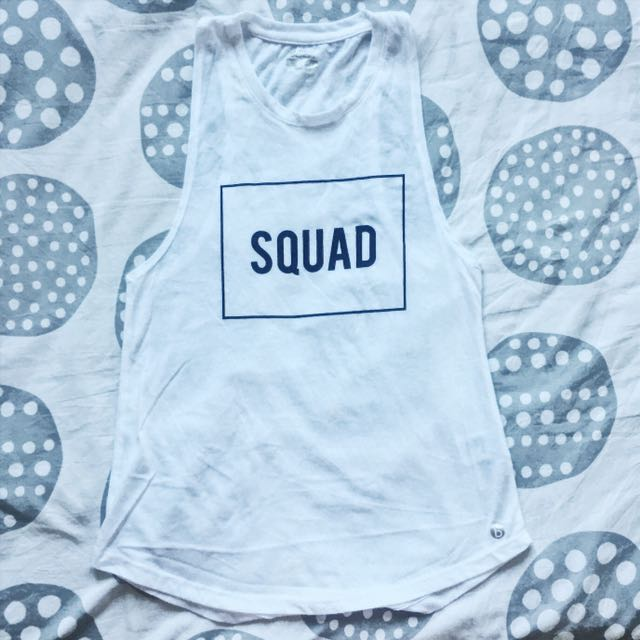 White SQUAD muscle tank - Cotton On Body