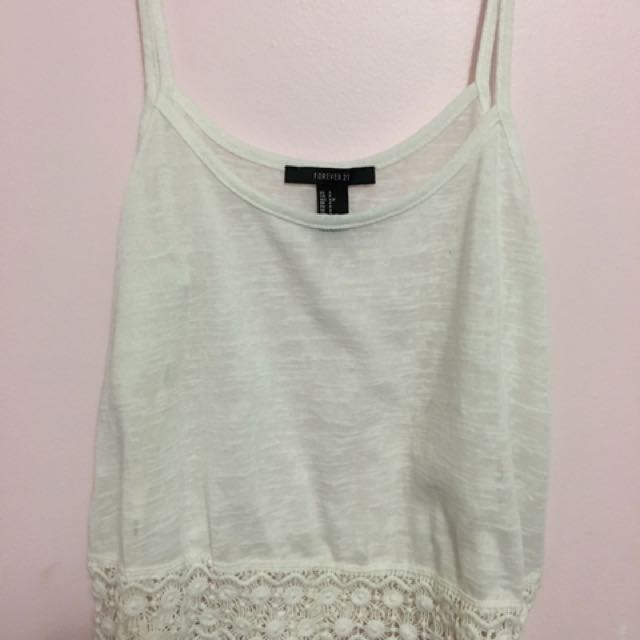 white summer tank top