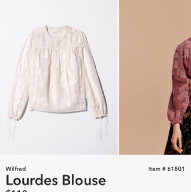 Wilfred Lourdes blouse- Aritzia