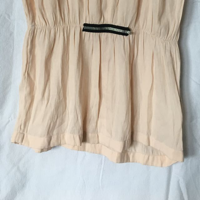 Zara beige Blouse top