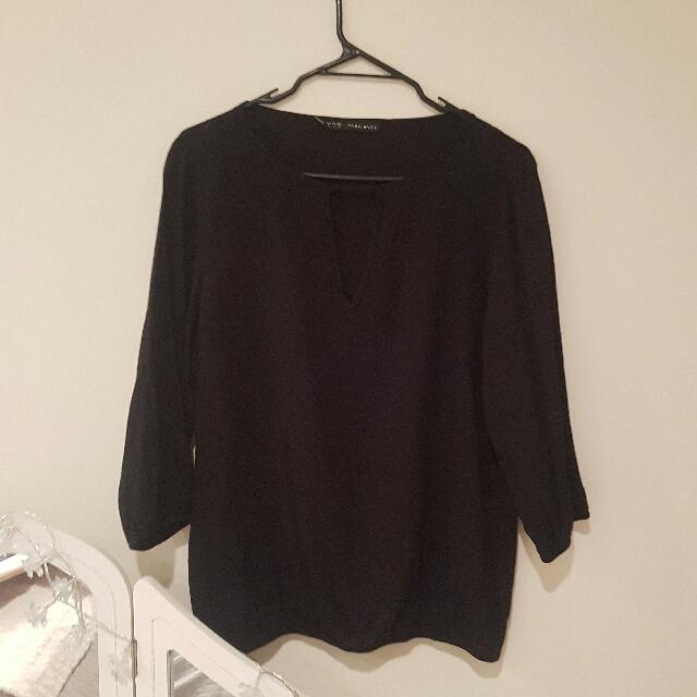 Zara Black Blouse
