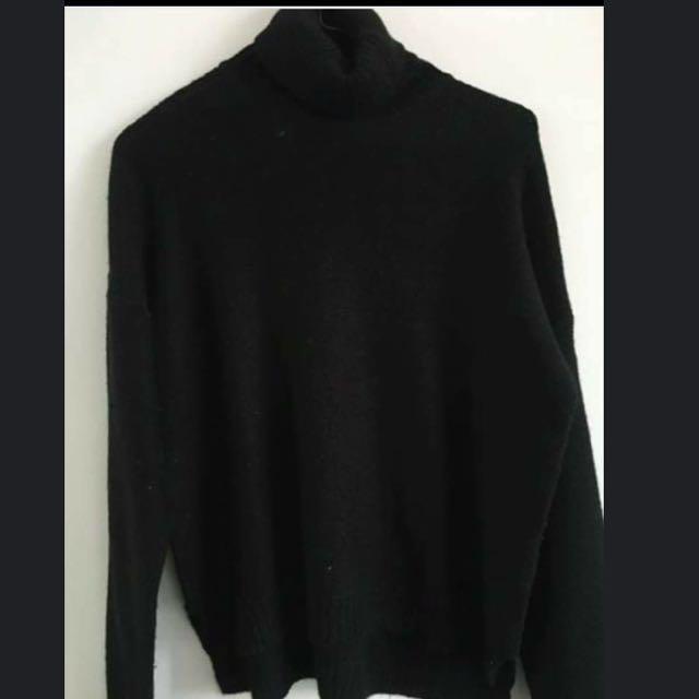 Zara Knit Black Turtleneck